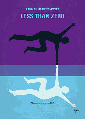 No848 My Less Than Zero Minimal Movie Poster Art Print