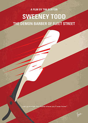 No849 My Sweeney Todd Minimal Movie Poster Art Print