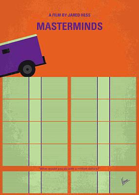 Digital Art - No851 My Masterminds Minimal Movie Poster by Chungkong Art