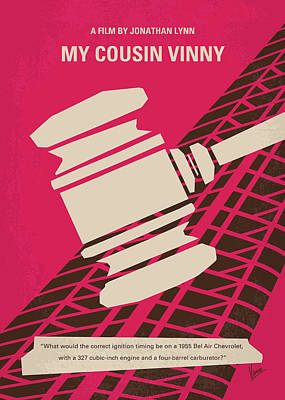 Cousins Digital Art - No852 My Cousin Vinny Minimal Movie Poster by Chungkong Art