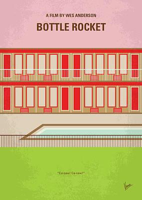 Mental Digital Art - No855 My Bottle Rocket Minimal Movie Poster by Chungkong Art