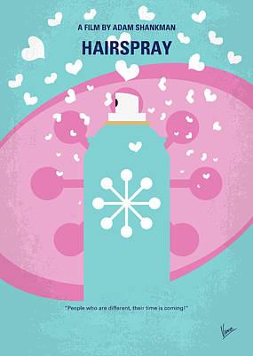 Seaweed Digital Art - No856 My Hairspray Minimal Movie Poster by Chungkong Art