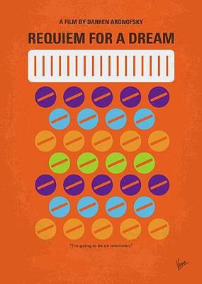 Pill Digital Art - No858 My Requiem For A Dream Minimal Movie Poster by Chungkong Art