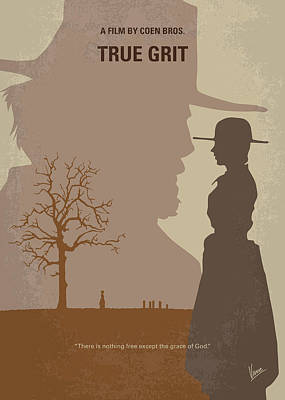 University Wall Art - Digital Art - No860 My True Grit Minimal Movie Poster by Chungkong Art