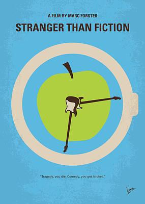Clock Digital Art - No868 My Stranger Than Fiction Minimal Movie Poster by Chungkong Art