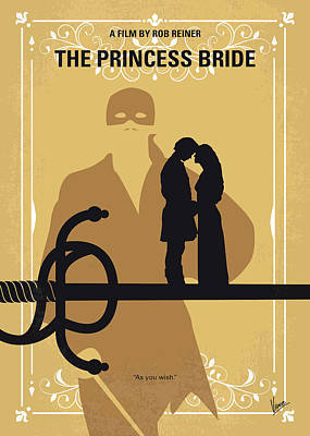 Robin Digital Art - No877 My The Princess Bride Minimal Movie Poster by Chungkong Art
