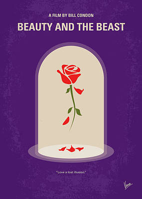 Beauty Wall Art - Digital Art - No878 My Beauty And The Beast Minimal Movie Poster by Chungkong Art