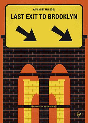 Pregnant Wall Art - Photograph - No879 My Last Exit To Brooklyn Minimal Movie Poster by Chungkong Art