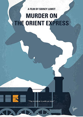 Digital Art - No883 My Murder On The Orient Express Minimal Movie Poster by Chungkong Art