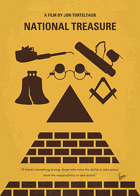 Digital Art - No887 My National Treasure Minimal Movie Poster by Chungkong Art