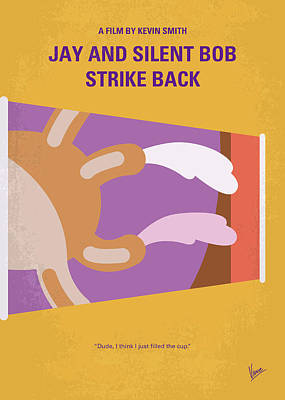 Digital Art - No889 My Jay And Silent Bob Strike Back Minimal Movie Poster by Chungkong Art