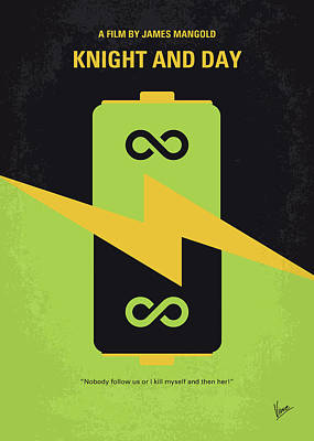Digital Art - No899 My Knight And Day Minimal Movie Poster by Chungkong Art