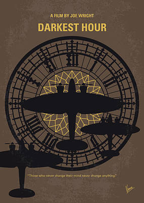 Big Ben Digital Art - No901 My Darkest Hour Minimal Movie Poster by Chungkong Art