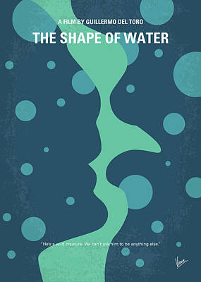 Laboratory Digital Art - No902 My The Shape Of Water Minimal Movie Poster by Chungkong Art
