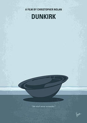 Digital Art - No905 My Dunkirk Minimal Movie Poster by Chungkong Art