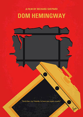 Digital Art - No917 My Dom Hemingway Minimal Movie Poster by Chungkong Art