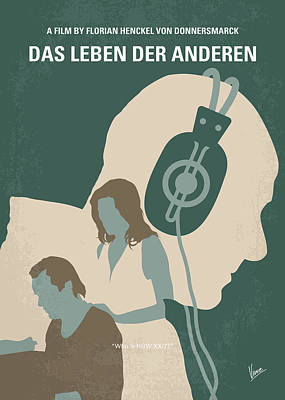 Digital Art - No918 My Das Leben Der Anderen Minimal Movie Poster by Chungkong Art