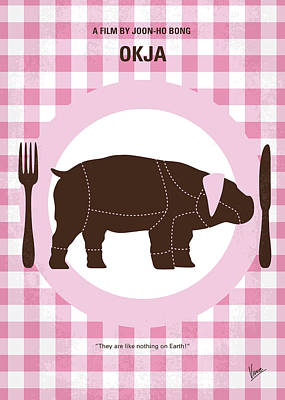 South Korea Digital Art - No921 My Okja Minimal Movie Poster by Chungkong Art