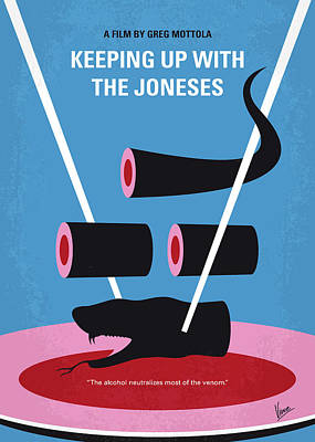 Digital Art - No922 My Keeping Up With The Joneses Minimal Movie Poster by Chungkong Art