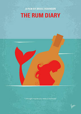 Johnny Depp Digital Art - No925 My The Rum Diary Minimal Movie Poster by Chungkong Art