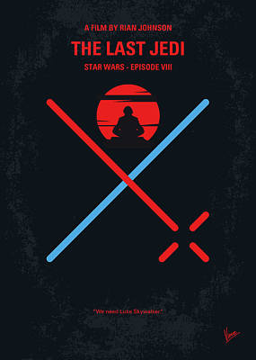 Digital Art - No940 My Star Wars Episode Viii The Last Jedi Minimal Movie Poster by Chungkong Art