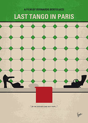 Digital Art - No941 My Last Tango In Paris Minimal Movie Poster by Chungkong Art