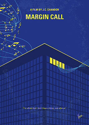 Digital Art - No950 My Margin Call Minimal Movie Poster by Chungkong Art