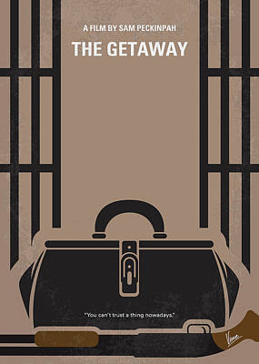 Digital Art - No952 My The Getaway Minimal Movie Poster by Chungkong Art