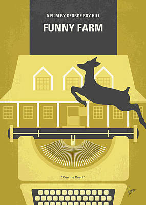Digital Art - No959 My Funny Farm Minimal Movie Poster by Chungkong Art