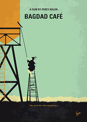 Cafe Wall Art - Digital Art - No964 My Bagdad Cafe Minimal Movie Poster by Chungkong Art