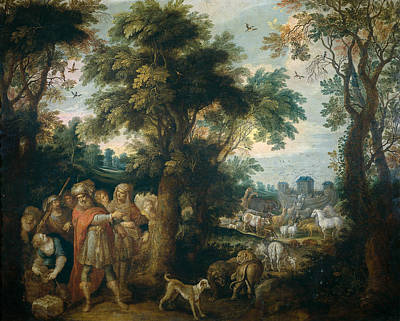 Noah Painting - Noah Directs The Entry Of Animals Into The Ark by Frans Francken the Younger