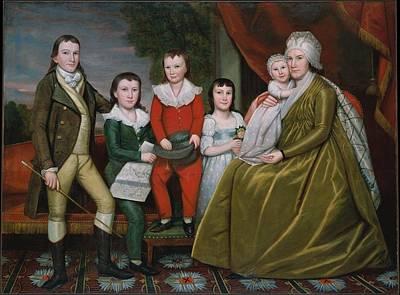 Noah Smith And Her Children Art Print