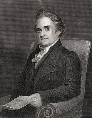 Noah Webster 1758 To 1843 American Art Print by Vintage Design Pics