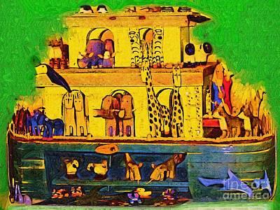 Noahs Ark From My Point Art Print by Deborah MacQuarrie-Selib