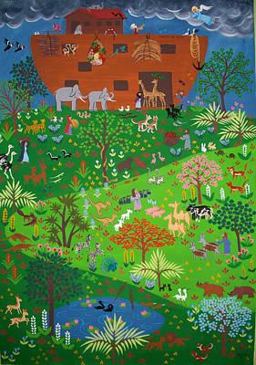 Noahs Ark Print by Isolda Nouel