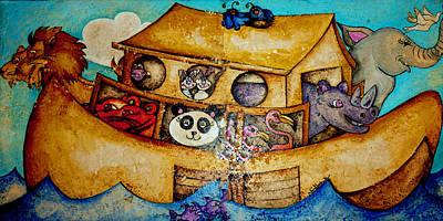 Noahs Ark Mixed Media - Noah's Ark by Jean Habeck