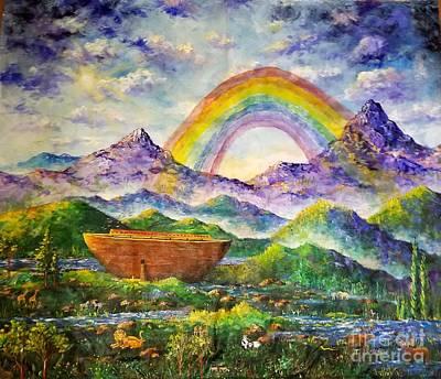 Painting - Noahs Ark by Lou Ann Bagnall