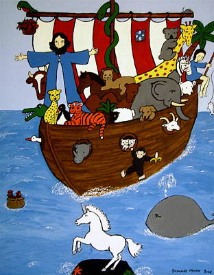 Painting - Noah's Ark by Stephanie Moore