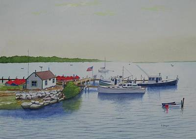 Painting - Noank, Ct by Norman Freyer