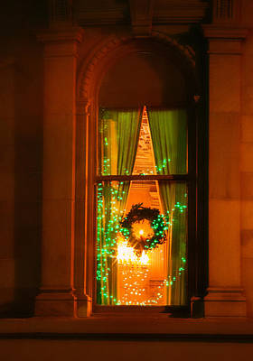 Photograph - Nob Hill Christmas Window by Bonnie Follett