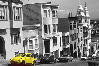 Photograph - Yellow Beetle - San Francisco Highlight by Art America Gallery Peter Potter