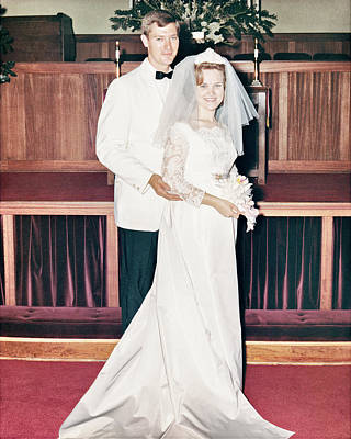 Photograph - Nobel And Vernice Wedding Formal Portrai by John Maffei