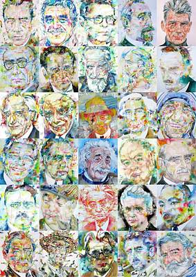 Painting - Nobel Prize Laureates by Fabrizio Cassetta