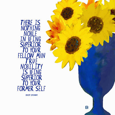 Painting - Nobility And Sunflowers by Lisa Weedn