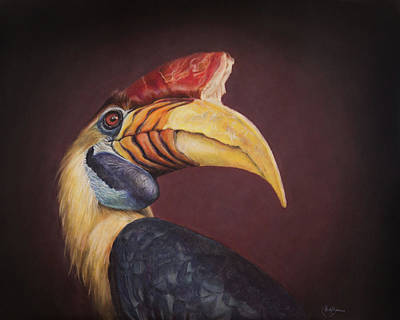 Hornbill Wall Art - Painting - Nobility by Kirsty Rebecca