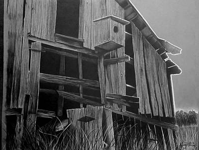 Old Barn Drawing - Noble Barn  by Jason Dunning