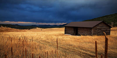 Log Cabin Photograph - Noble Meadow by Thomas Zimmerman
