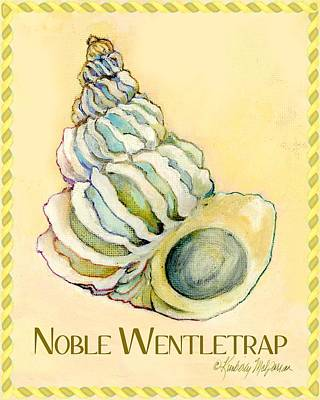 Shell Sign Painting - Noble Wentletrap by Kimberly McSparran