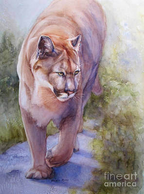 Painting - Noble Cougar by Bonnie Rinier