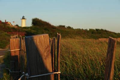 Nobska Light Cape Cod Falmouth Ma Wooden Fence Art Print
